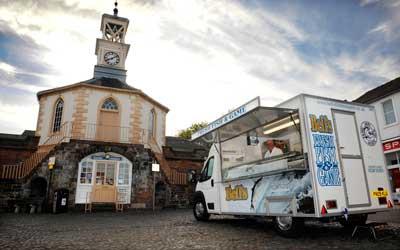 Bell's Fishmongers mobile van in Brampton